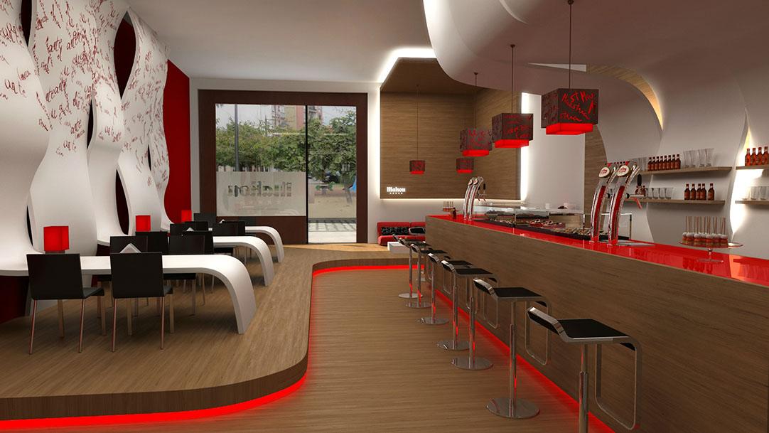 Dise o interior interior design 01 - Diseno de interiores para bares ...